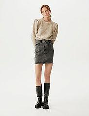 Gestuz - AleahGZ mini skirt SO21 - denimnederdele - storm grey - 0