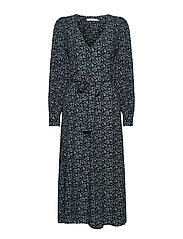 LoraliGZ V-neck dress SO21 - AQUA FLOWER