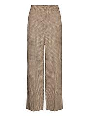 GritaGZ HW wide pants MS21 - SAND BLACK CHECK