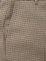 Gestuz - GritaGZ HW wide pants MS21 - bukser med brede ben - sand black check - 3