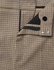 Gestuz - GritaGZ HW wide pants MS21 - bukser med brede ben - sand black check - 4