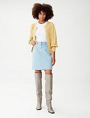 Gestuz - DacyGZ HW skirt - jeanskjolar - light blue vintage - 0