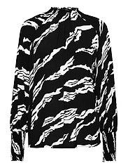 ZohaGZ blouse MS21 - BLACK SCRATCH
