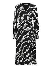 ZohaGZ wrap dress MS21 - BLACK SCRATCH