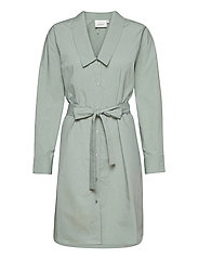 JilanGZ shirt dress MS21 - SLATE GRAY