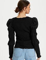 Gestuz - MazziGZ ls blouse MS21 - langærmede bluser - black - 3