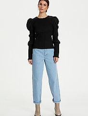 Gestuz - MazziGZ ls blouse MS21 - langærmede bluser - black - 4