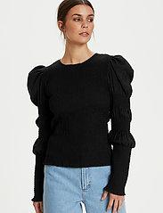 Gestuz - MazziGZ ls blouse MS21 - langærmede bluser - black - 5