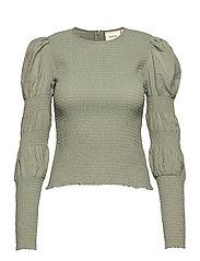 MazziGZ ls blouse MS21 - SLATE GRAY