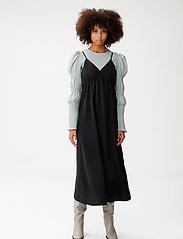 Gestuz - MazziGZ ls blouse MS21 - langærmede bluser - slate gray - 0