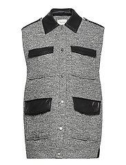 LucilaGZ waistcoat - HERRINGBONE DUSTY GREEN