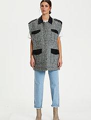 Gestuz - LucilaGZ waistcoat - puffer vests - herringbone dusty green - 0