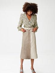 Gestuz - RoxanneGZ HW skirt - midinederdele - pure cashmere - 0
