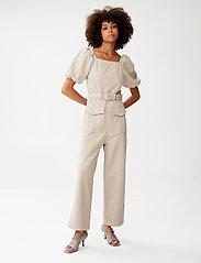 Gestuz - BellioGZ jumpsuit - tøj - pure cashmere - 0