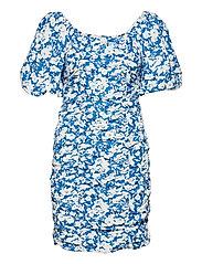 MynteGZ short dress - BLUE FLOWER