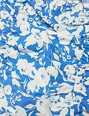 Gestuz - MynteGZ blouse - kortærmede bluser - blue flower - 4