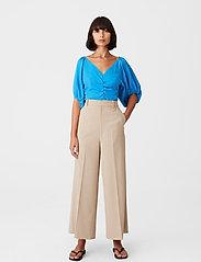 Gestuz - BegoniaGZ blouse - kortærmede bluser - french blue - 0