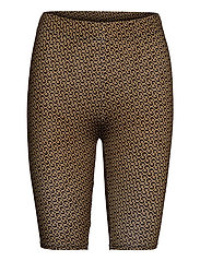 PiloGZ MW printed short tights - BROWN LOGO