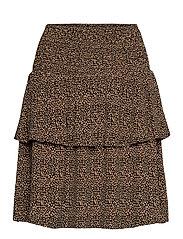 LifGZ skirt - BROWN MINI LEO