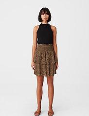 Gestuz - LifGZ skirt - midi nederdele - brown mini leo - 0