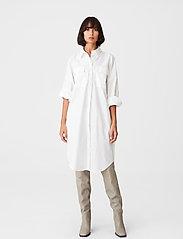 Gestuz - HalioGZ OZ shirt dress - hverdagskjoler - bright white - 0