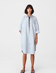 Gestuz - HalioGZ OZ shirt dress - hverdagskjoler - bright white - 3