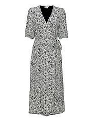 DisGZ wrap dress - GREY WAVE