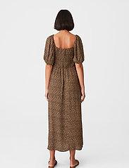 Gestuz - LifGZ long dress - sommerkjoler - brown mini leo - 4