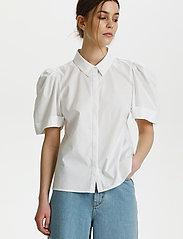 Gestuz - HalioGZ ss shirt - kortærmede skjorter - bright white - 0