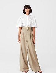 Gestuz - HalioGZ ss shirt - kortærmede skjorter - bright white - 3