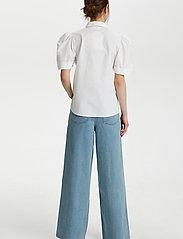 Gestuz - HalioGZ ss shirt - kortærmede skjorter - bright white - 4