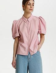 Gestuz - HalioGZ ss shirt - denimskjorter - fragrant lilac - 0