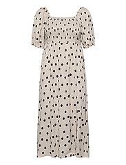 DoraGZ short dress - OFF WHITE W BLACK DOT