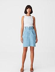 Gestuz - ElmaGZ HW skirt - midi nederdele - light blue - 0