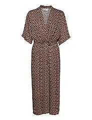 LaiaGZ kimono - SMALL FLOWER BLACK BEETLE