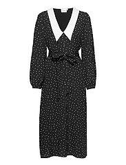 KatlaGZ dress - BLACK W. WHITE DOT