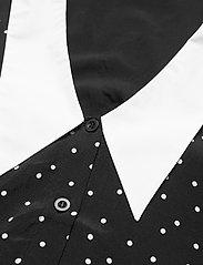 Gestuz - KatlaGZ ls shirt - langærmede skjorter - black w. white dot - 4