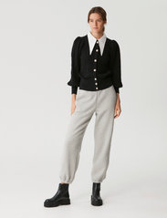 Gestuz - RawanGZ collar cardigan - black - 3