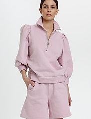 Gestuz - NankitaGZ ss zipper sweatshirt - sweatshirts & hoodies - fragrant lilac - 0