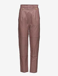 Abbie pants SO18 - pantalons en cuir - burlwood