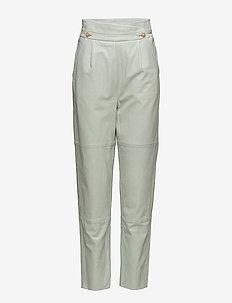 Abbie pants SO18 - pantalons en cuir - silt green