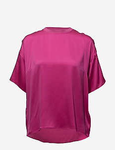 Kennedy ss top MS18 - short-sleeved blouses - very berry