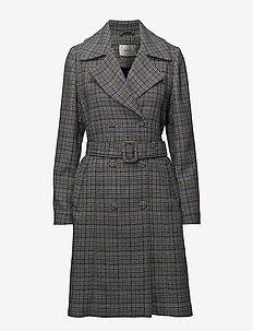Vinne coat MS18 - trenchcoats - black/white check