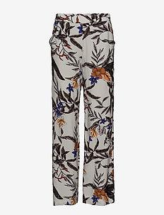 Greye pants HS18 - uitlopende broeken - grey flower print