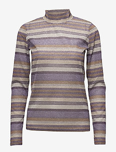 Shine turtleneck MA18 - PURPLE/GOLD