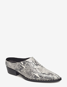 Nancy mules MA18 - BLACK/WHITE
