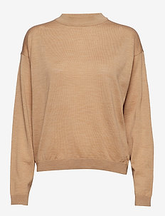 MerinaGZ pullover NOOS - trøjer - tan melange
