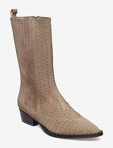 Nancy suede boots SO19 - BEIGE AS CUT