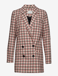 Obia blazer SO19 - oversize-bleiserit - red/pink/white check