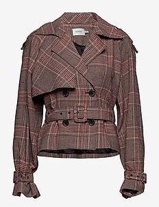 Sari short jacket SO19 - TAN CHECK